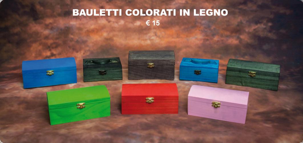 bauletti colorati in legno €15